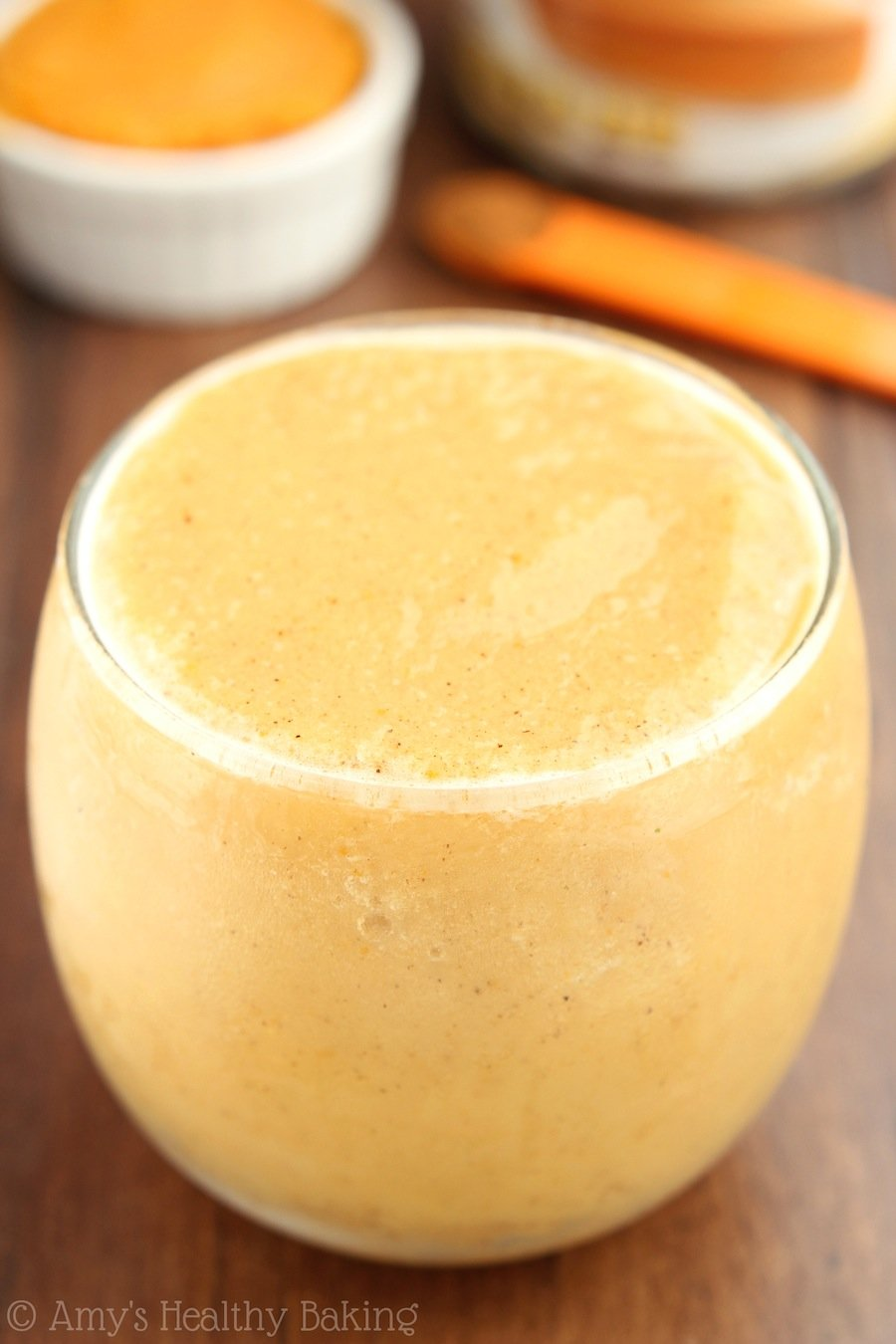 Skinny Pumpkin Pie Smoothie -- I'm SO obsessed! It tastes exactly like the pie & is only 75 calories!