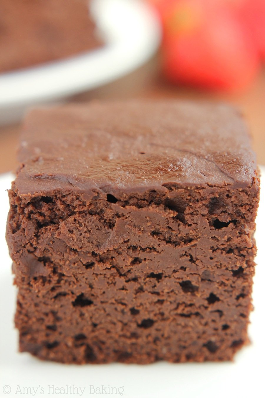 Skinny Slow Cooker Chocolate Fudge Cake | Amy's Healthy Baking