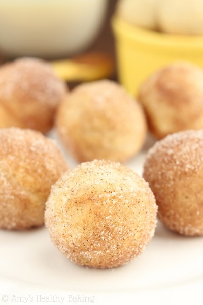Healthy Baked Snickerdoodle Donut Holes