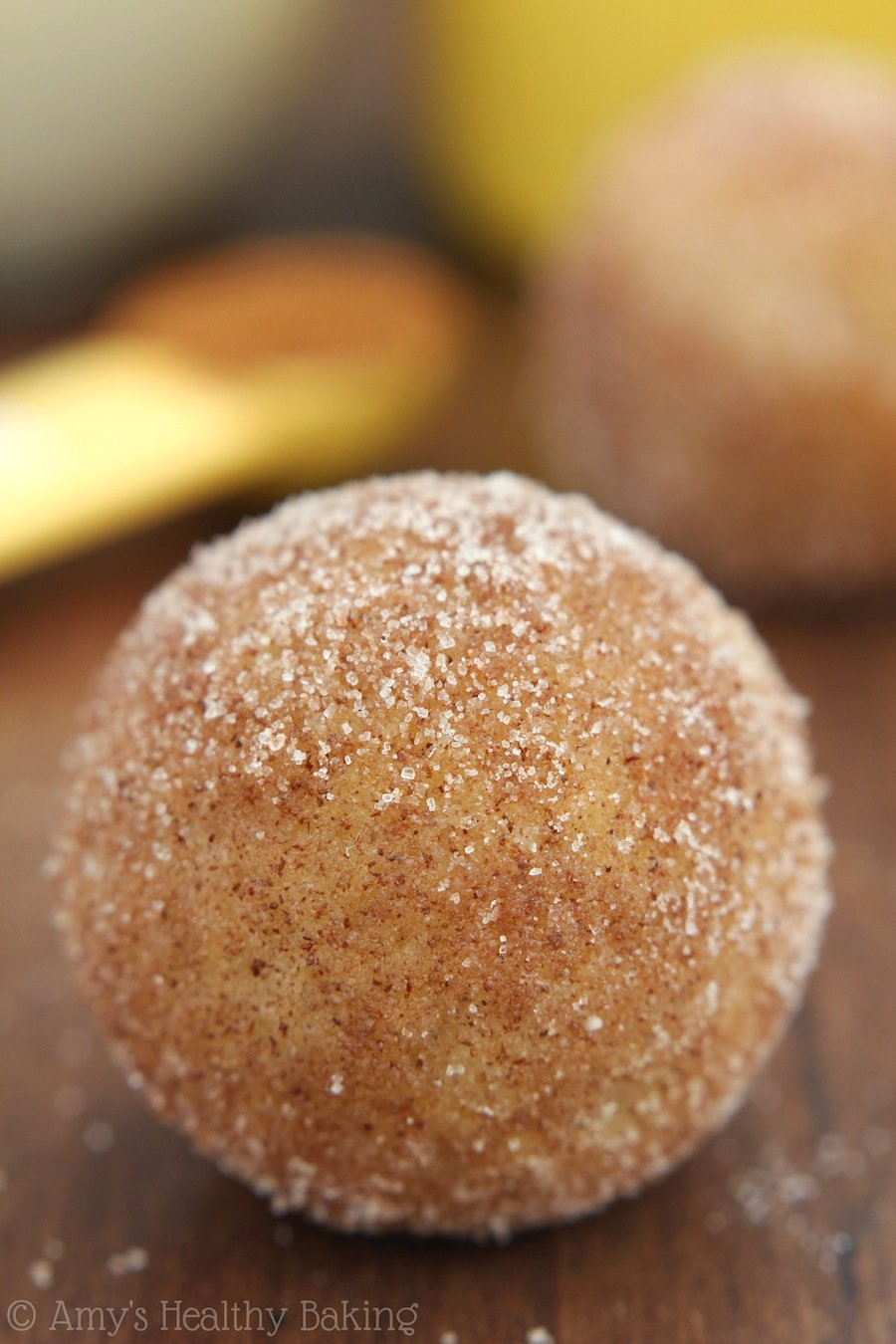 Snickerdoodle Donut Holes -- they taste just like the cookies! Baked, not fried so you can have more!