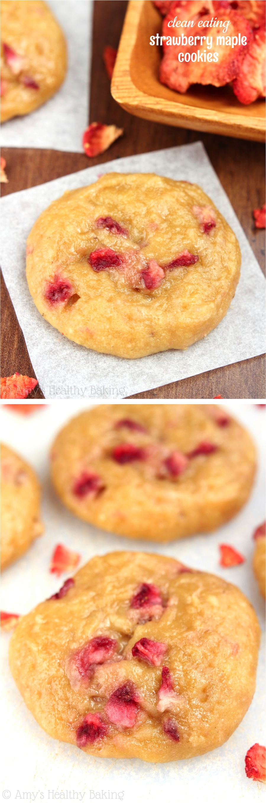Clean-Eating Strawberry Maple Cookies -- these skinny cookies don't ...
