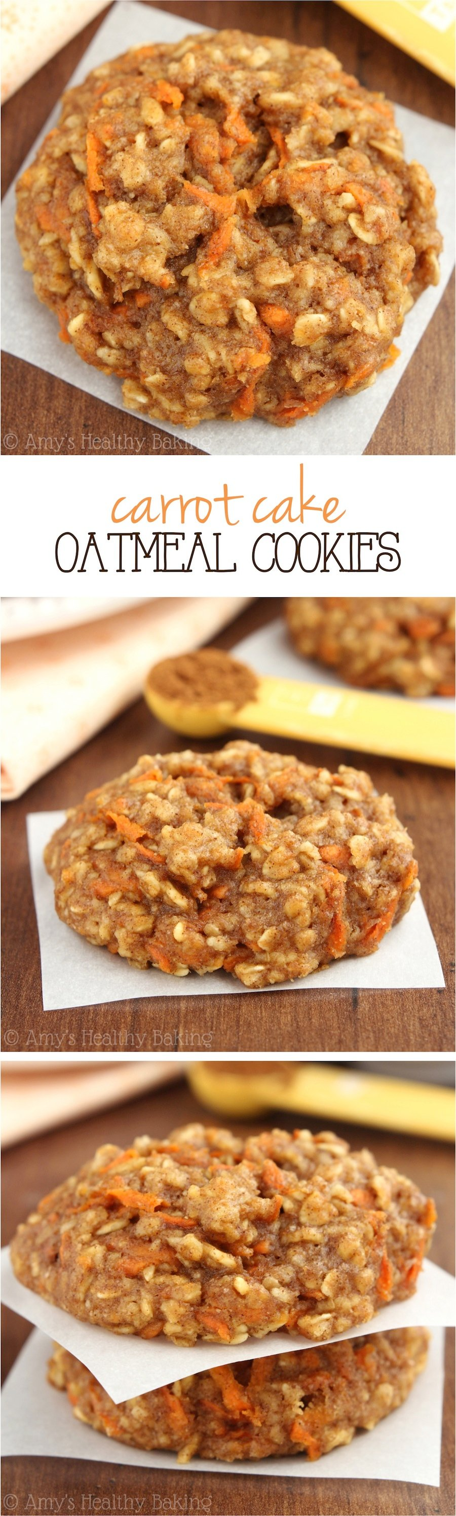 Low-Calorie Healthy Carrot Cake Oatmeal Cookies