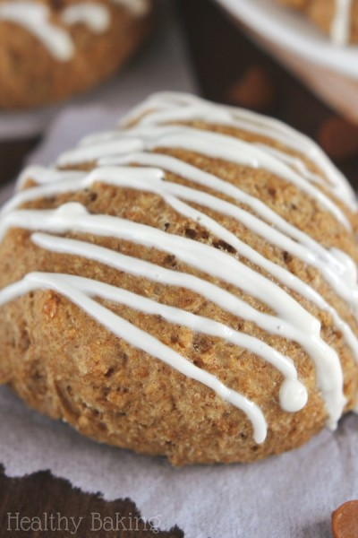 Gingerbread Scones with Maple Drizzle