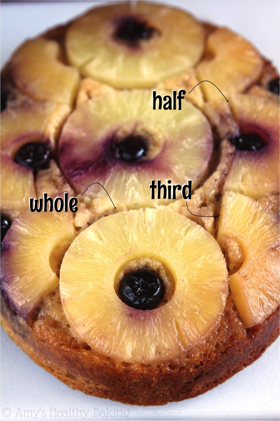 Slow Cooker Pineapple Upside Down Cake -- that buttery topping is the best! And you could eat 3 slices of this healthier version & consume fewer calories than a traditional piece!