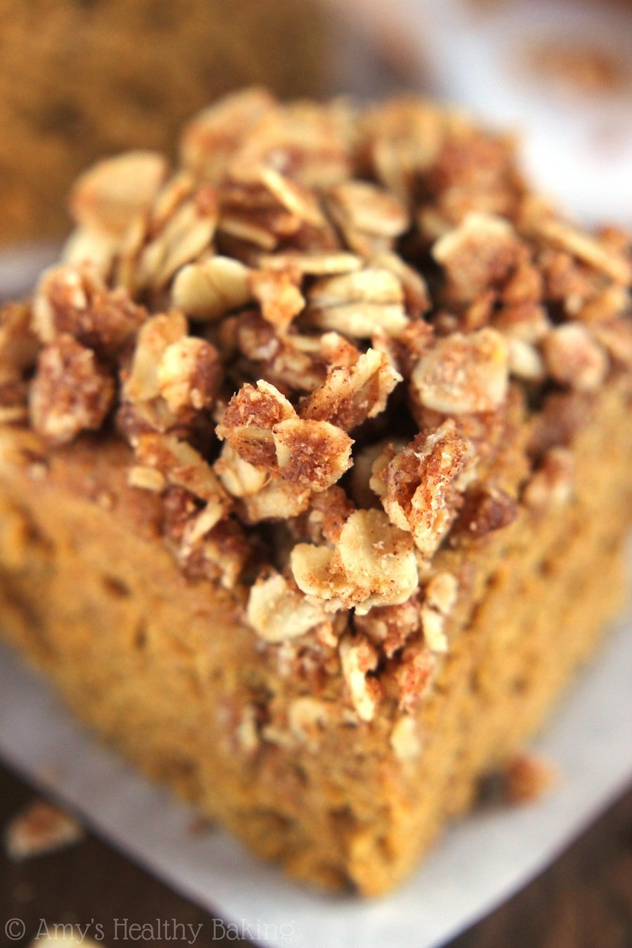 Pumpkin Streusel Coffee Cake - made in the slow cooker! That cinnamon topping is the BEST. You need to try this!