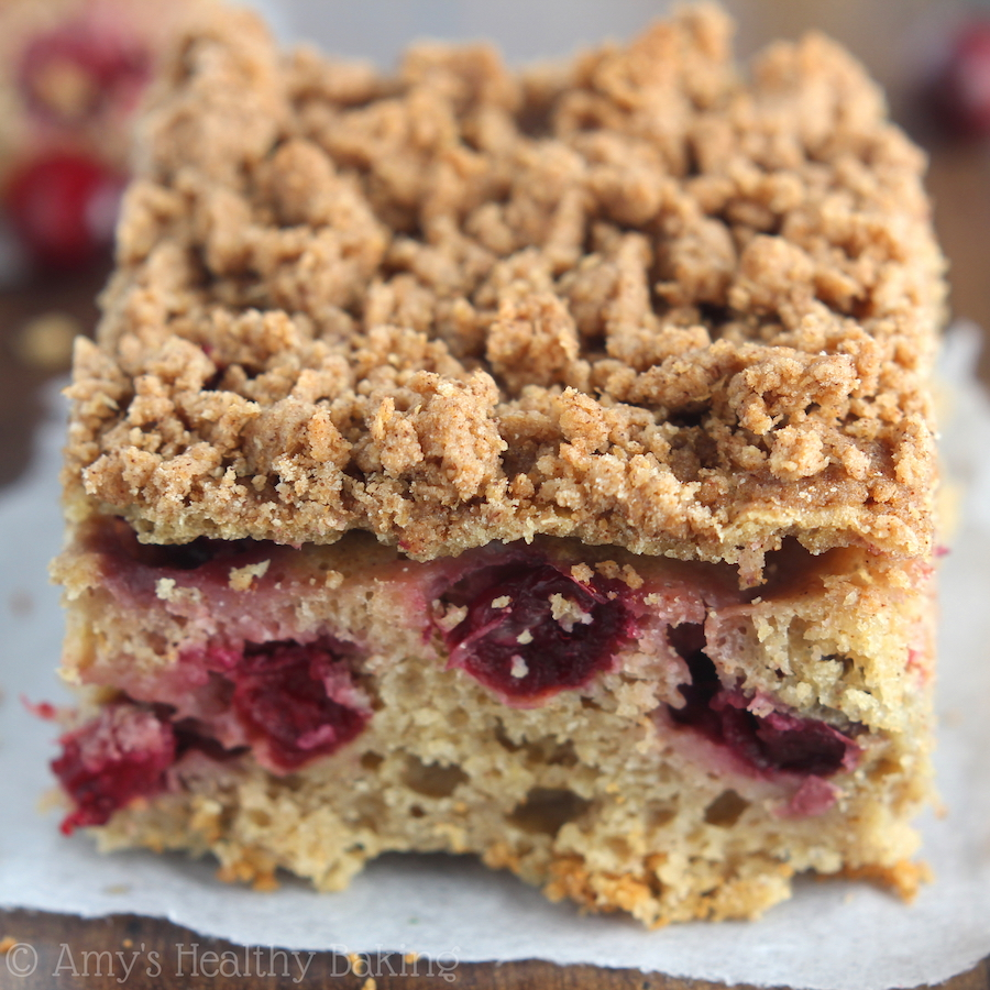 Cranberry Crumb Coffee Cake | Amy's Healthy Baking