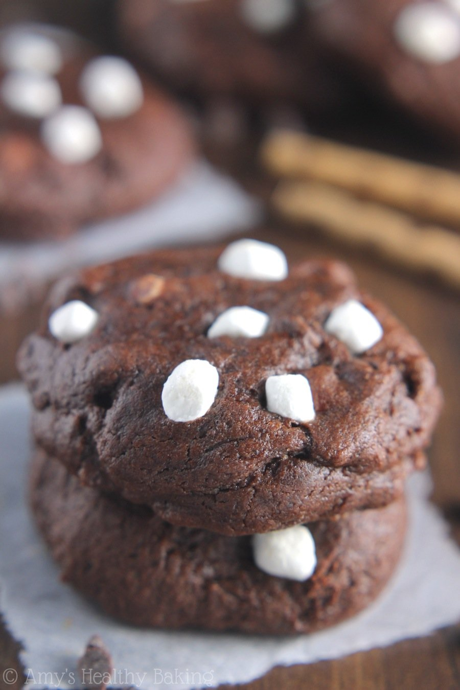 Peppermint Hot Chocolate Cookies | Amy's Healthy Baking