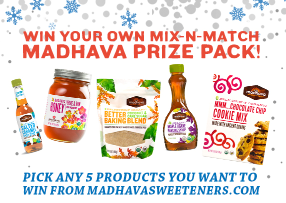 "Madhava Natural Sweeteners ""Healthier for the Holidays"" Giveaway!"