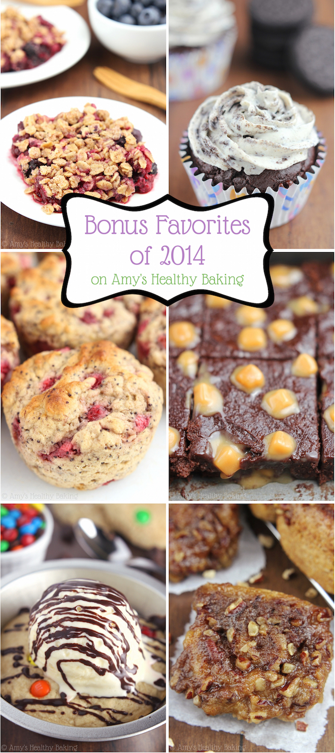 The BEST sweet & healthy recipes of 2014! These are my all-time favorites. I can't stop eating them -- SO good!