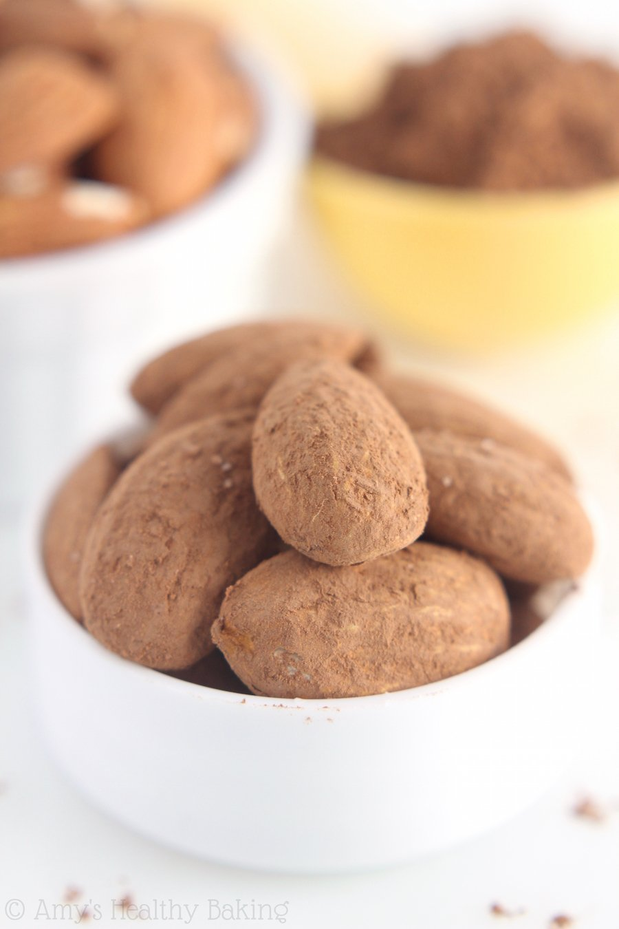 Cocoa Roasted Almonds -- just 3 ingredients + 20 minutes to make this DIY gourmet snack!