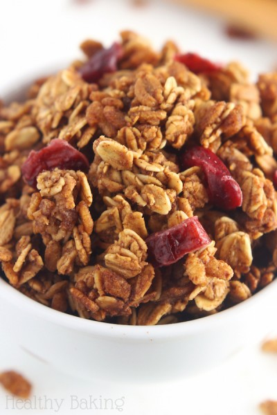 Cranberry Gingerbread Granola