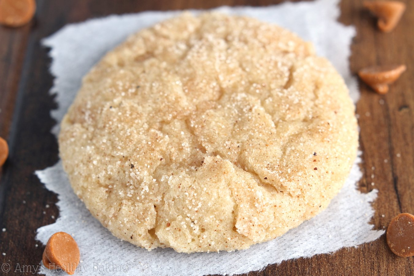 Eggnog Snickerdoodles -- the richest & chewiest you'll ever eat! SO addictive. This is the only eggnog cookie recipe you'll ever need!