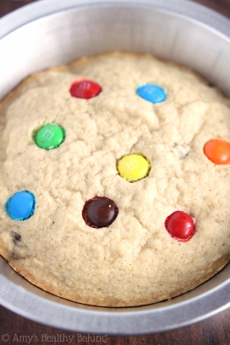 Skinny Rainbow Chocolate Chip Pizookies -- pure bliss. You NEED to try these!! You could have almost 3 of these & still consume fewer calories than in 1 of BJ's!
