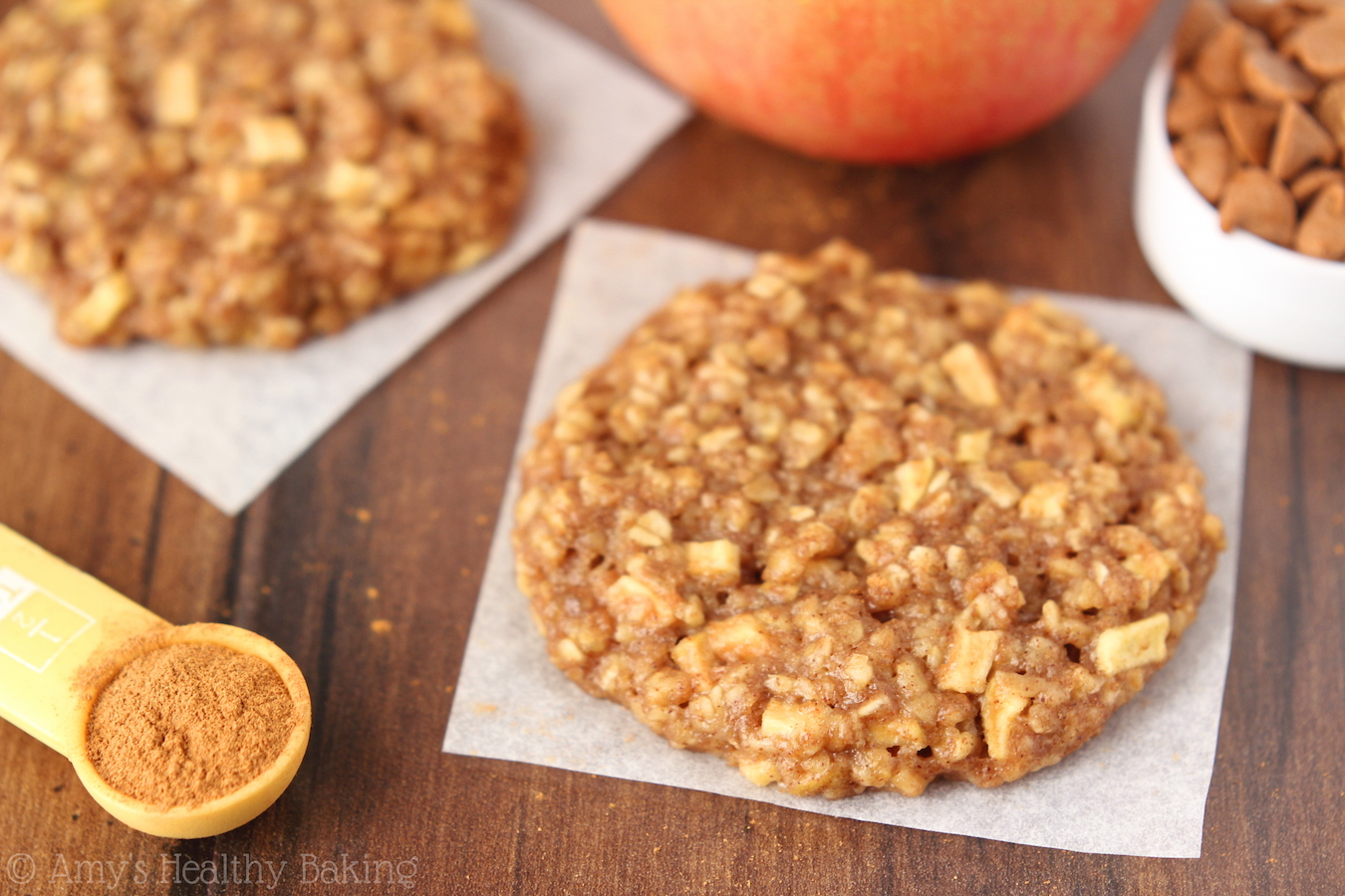 Clean Eating Apple Pie Oatmeal Cookies These Skinny Dont Taste
