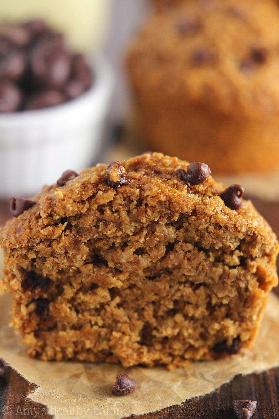 Chocolate Chip Banana Bran Muffins   Amy's Healthy Baking