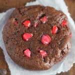 Chocolate Red Hot Cookies -- fudgy, brownie-like cookies with cinnamon candies! Sooo good. My whole family couldn't stop eating these!
