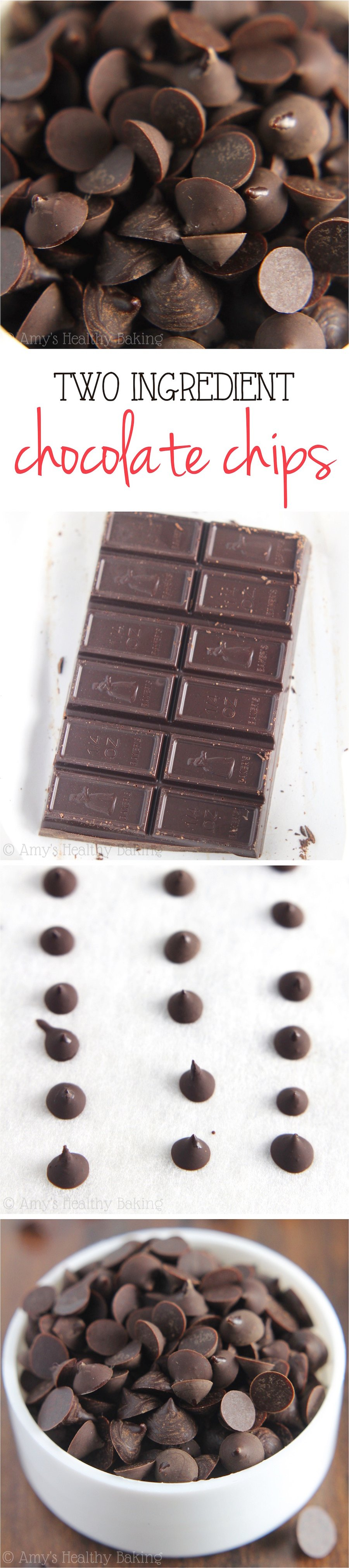 Homemade Two-Ingredient Chocolate Chips | Amy's Healthy Baking