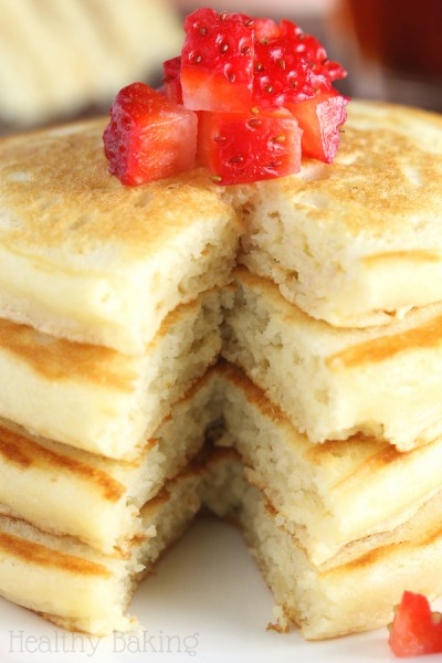 The Ultimate Healthy Buttermilk Pancakes