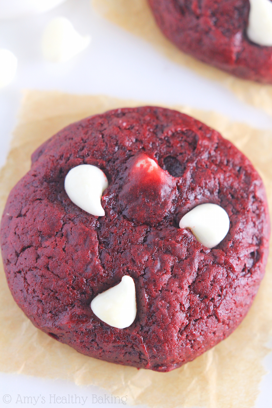 White Chocolate Red Velvet Cookies