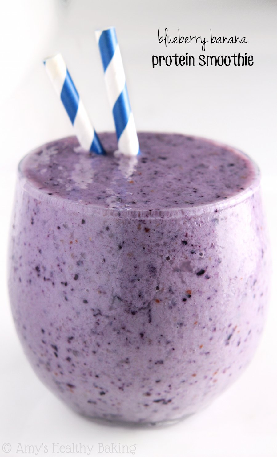 Blueberry Banana Protein Smoothie Amy S Healthy Baking