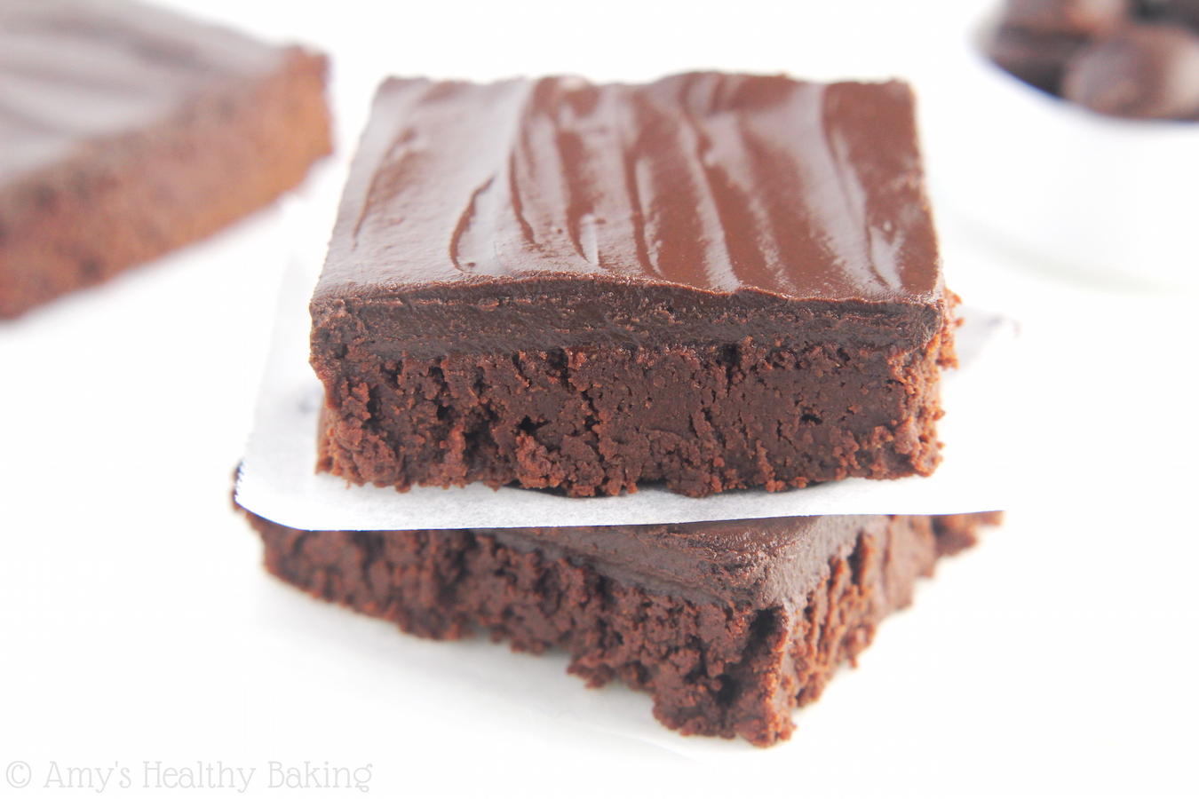 Frosted Dark Chocolate Brownies