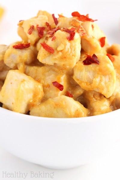 Easy & Skinny Spicy Orange Chicken