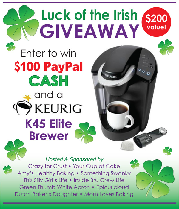Luck of the Irish Giveaway: Win a Keurig Elite Brewer & $100 PayPal Cash! {Enter by 3/17/15}