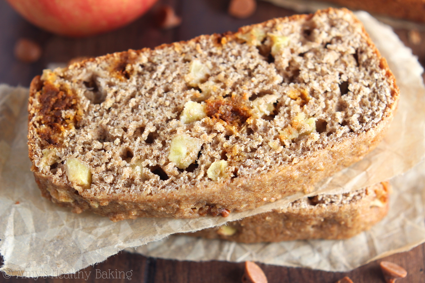 Cinnamon Apple Beer Bread -- a sweet & healthier spin on a classic! The whole loaf disappeared in minutes. Everyone raved about it!