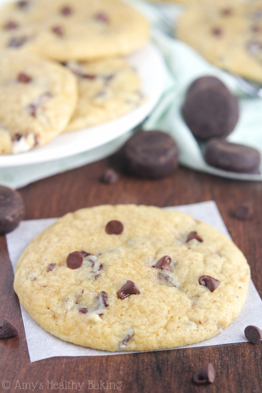 Mint Chocolate Chip Cookies -- buttery, chewy, minty & laughably easy to make! These were called the BEST I've baked. The whole batch barely lasted 5 minutes!