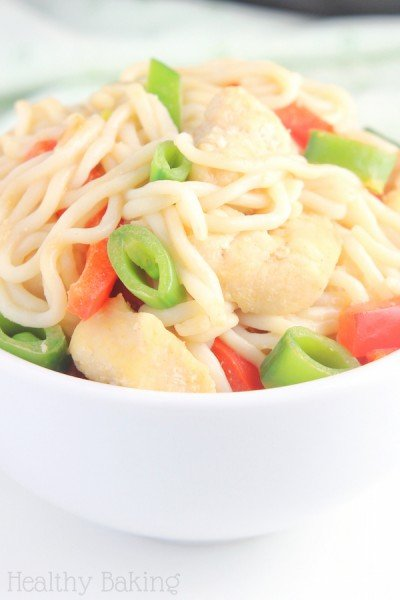 Chicken Peanut Soy Noodles