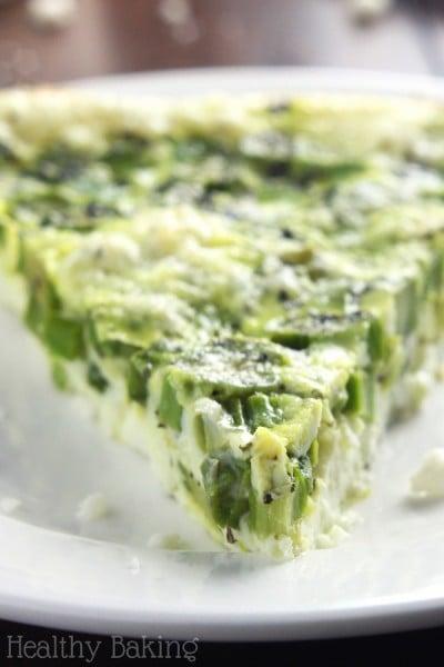 Skinny Asparagus & Feta Quiche