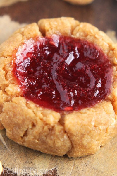 Peanut Butter & Jam Thumbprint Cookies