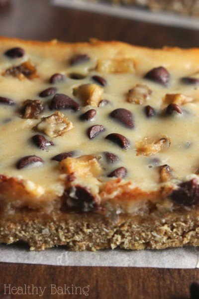 Skinny Peanut Butter Banana Seven Layer Bars