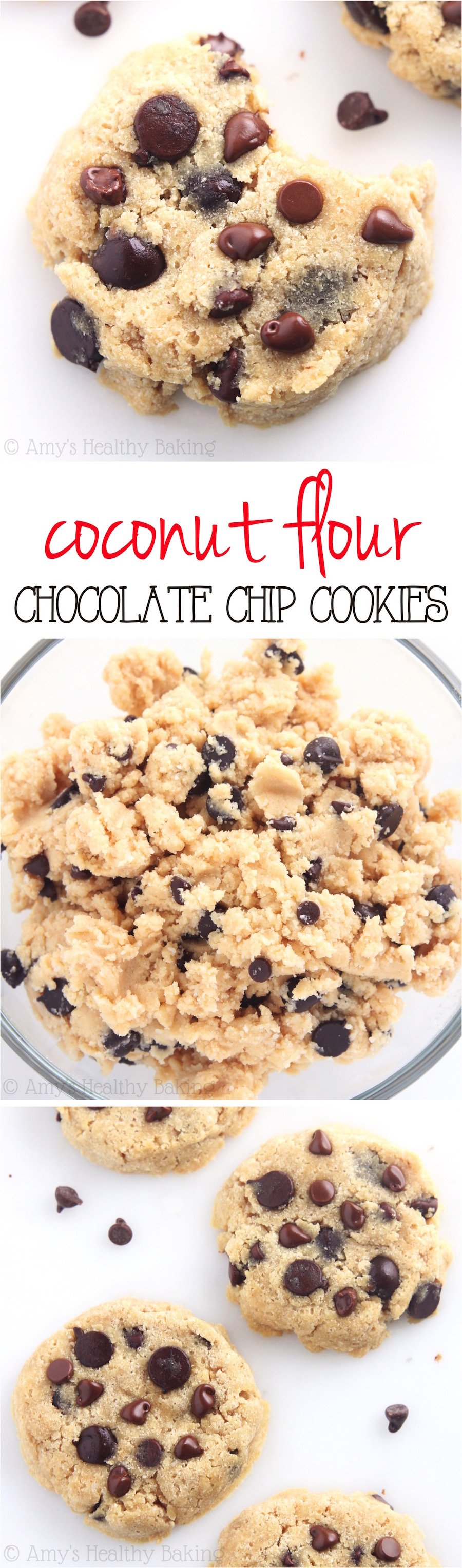 Coconut Flour Chocolate Chip Cookies   Amy's Healthy Baking