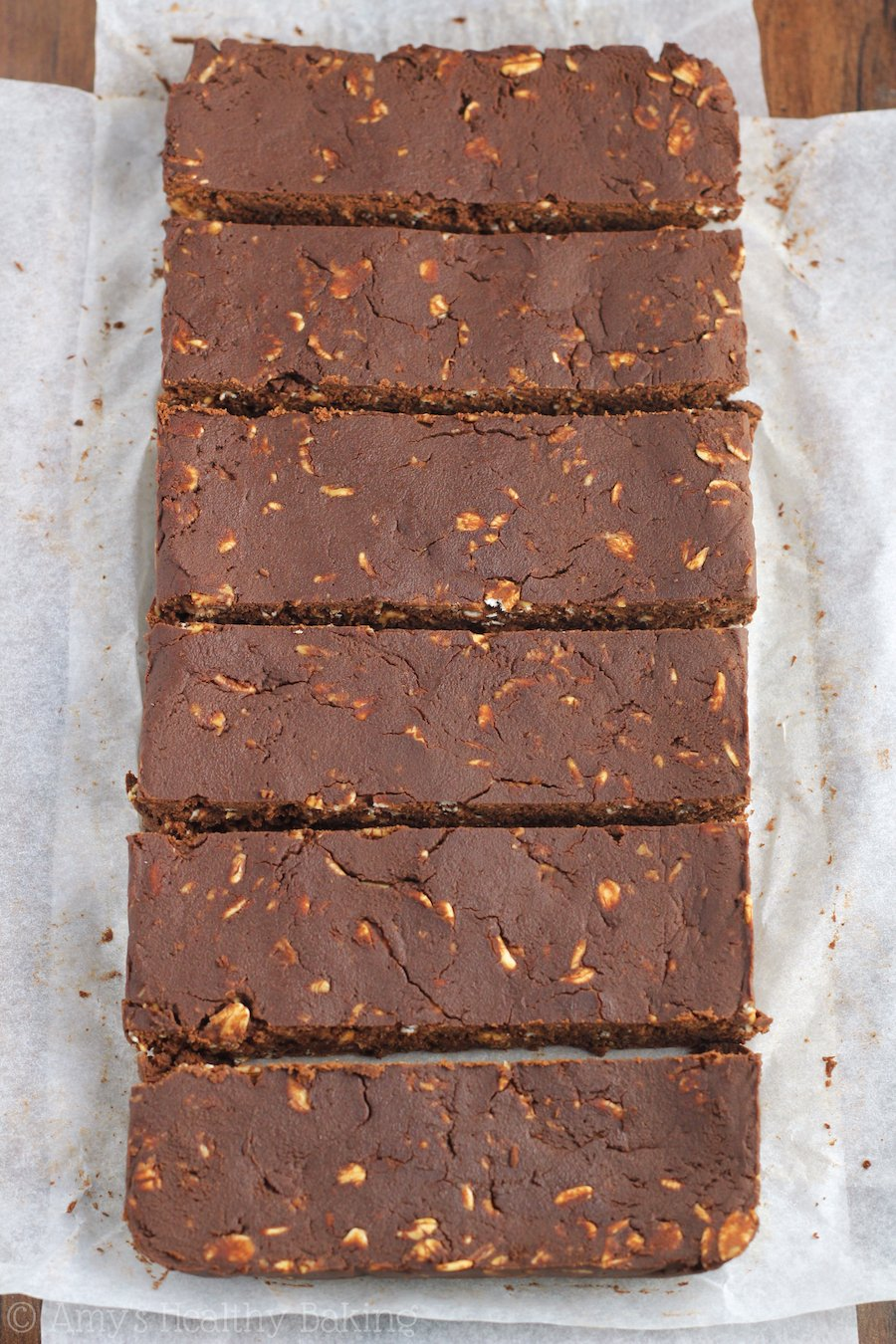 Mocha Brownie Protein Bars -- they're just as fudgy as brownies! Just 98 calories & almost 13g of protein!
