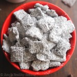 Skinny Mocha Muddy Buddies -- sweet, crunchy & with 50% FEWER calories than the original recipe!