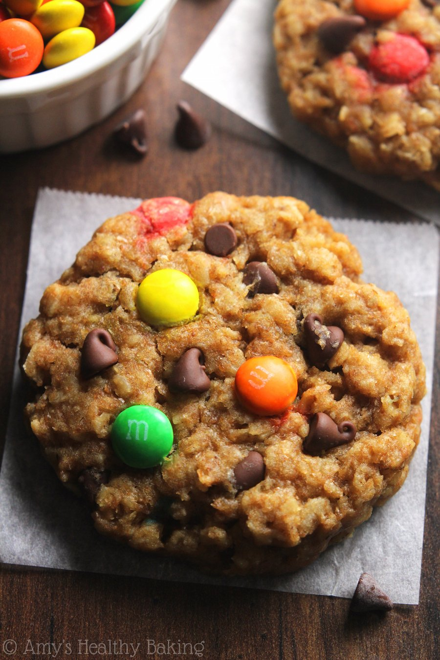 Healthy Classic Monster Cookies | Amy's Healthy Baking