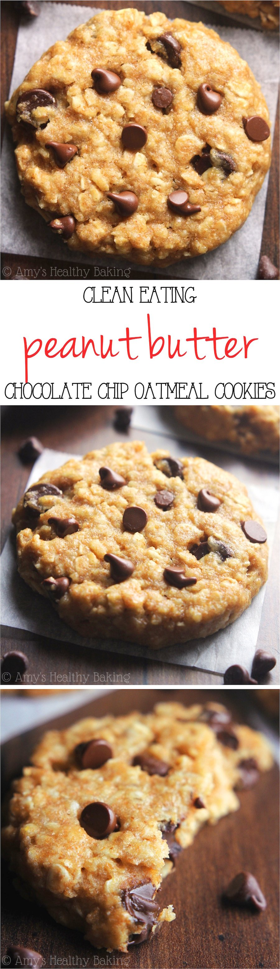 Chocolate Chip Peanut Butter Oatmeal Cookies Recipe Video Amy 39 S Healthy Baking