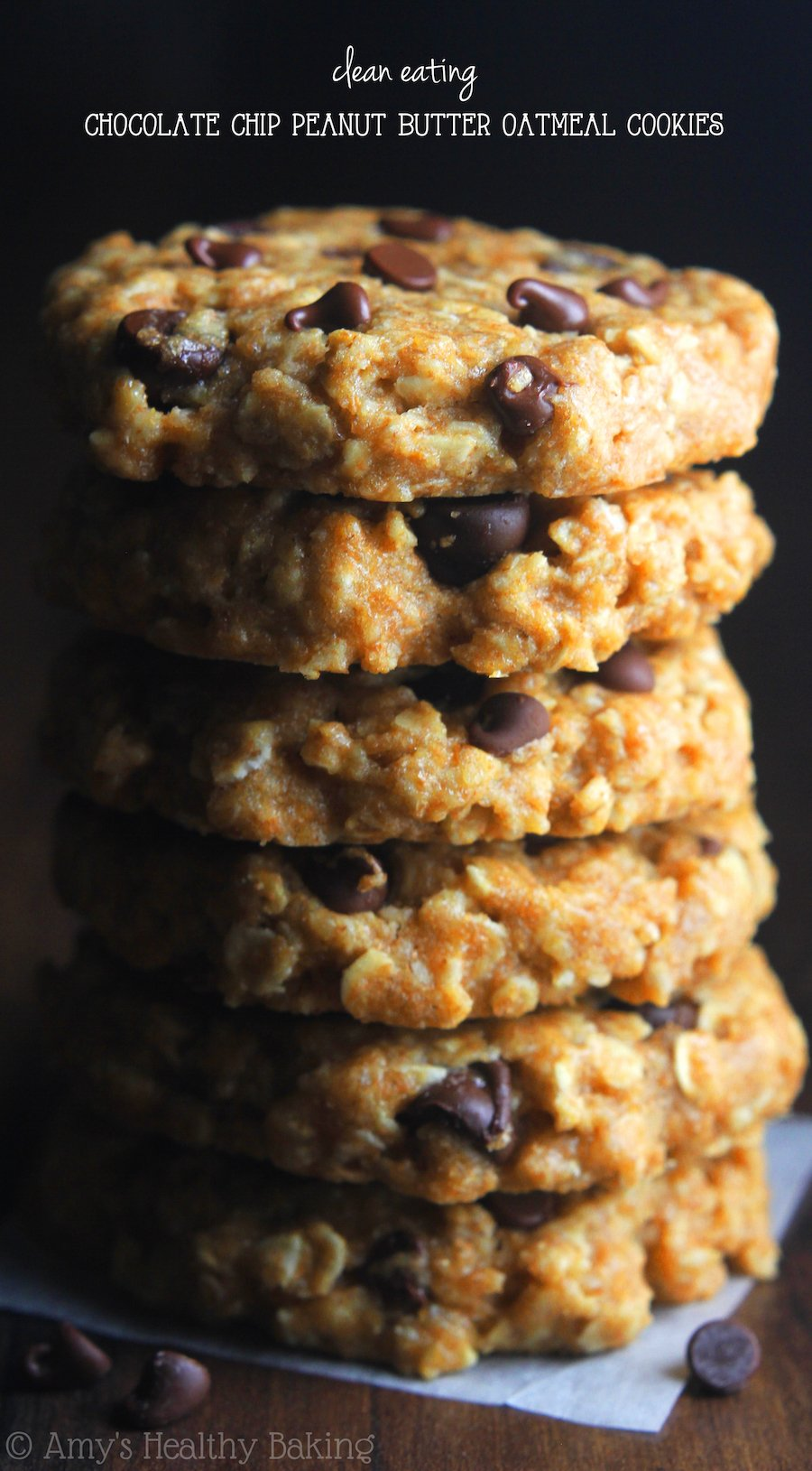 Chocolate chip peanut butter oatmeal cookies recipe video amys clean eating chocolate chip peanut butter oatmeal cookies these skinny cookies don forumfinder