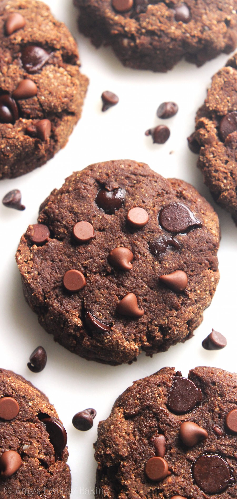 Low-Carb Double Chocolate Chip Cookies | Amy's Healthy Baking