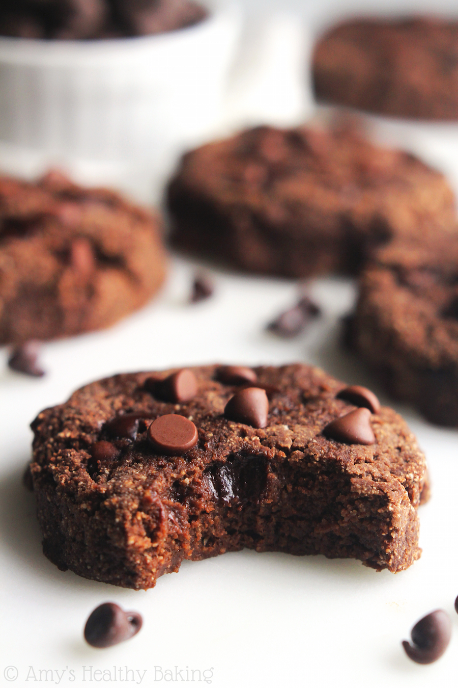 Low Carb Double Chocolate Chip Cookies Amy S Healthy Baking