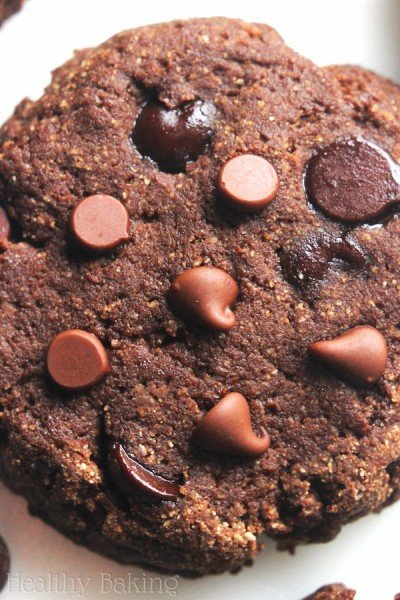 Coconut Flour Double Chocolate Chip Cookies