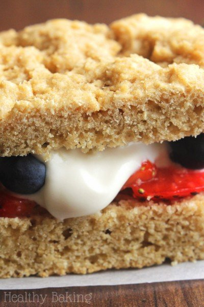 Clean Mixed Berry Shortcakes with Skinny Whipped Cream {Recipe Video!}