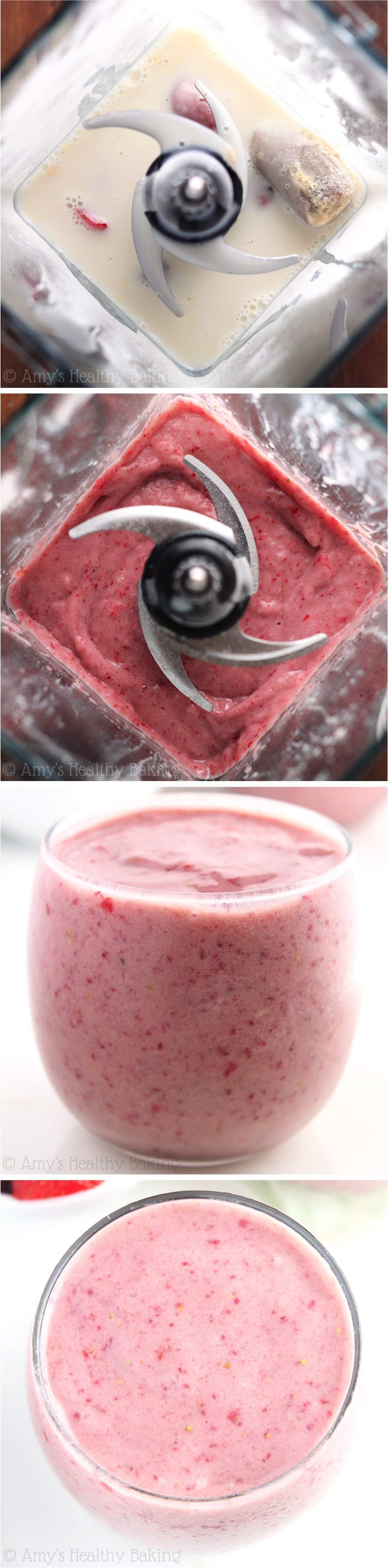 Protein Berry Workout Smoothie -- a Jamba Juice copycat for a fraction of the price! Just 4 healthy ingredients & 21g of protein!