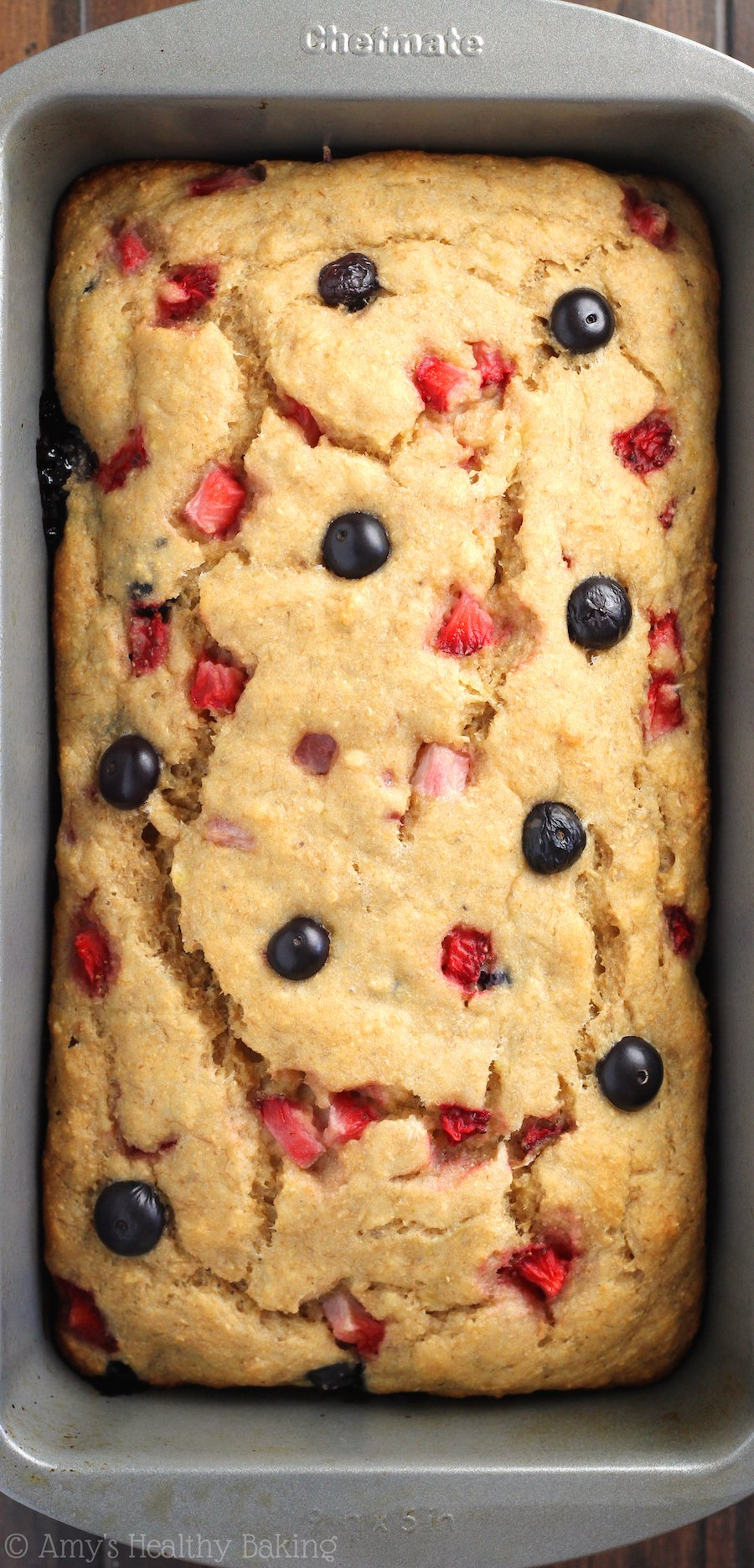 Whole Wheat Strawberry Blueberry Banana Bread -- an easy clean-eating ...