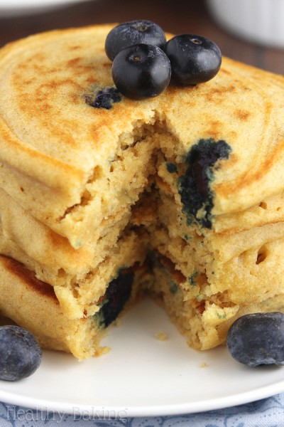 The Ultimate Healthy Blueberry Buttermilk Pancakes
