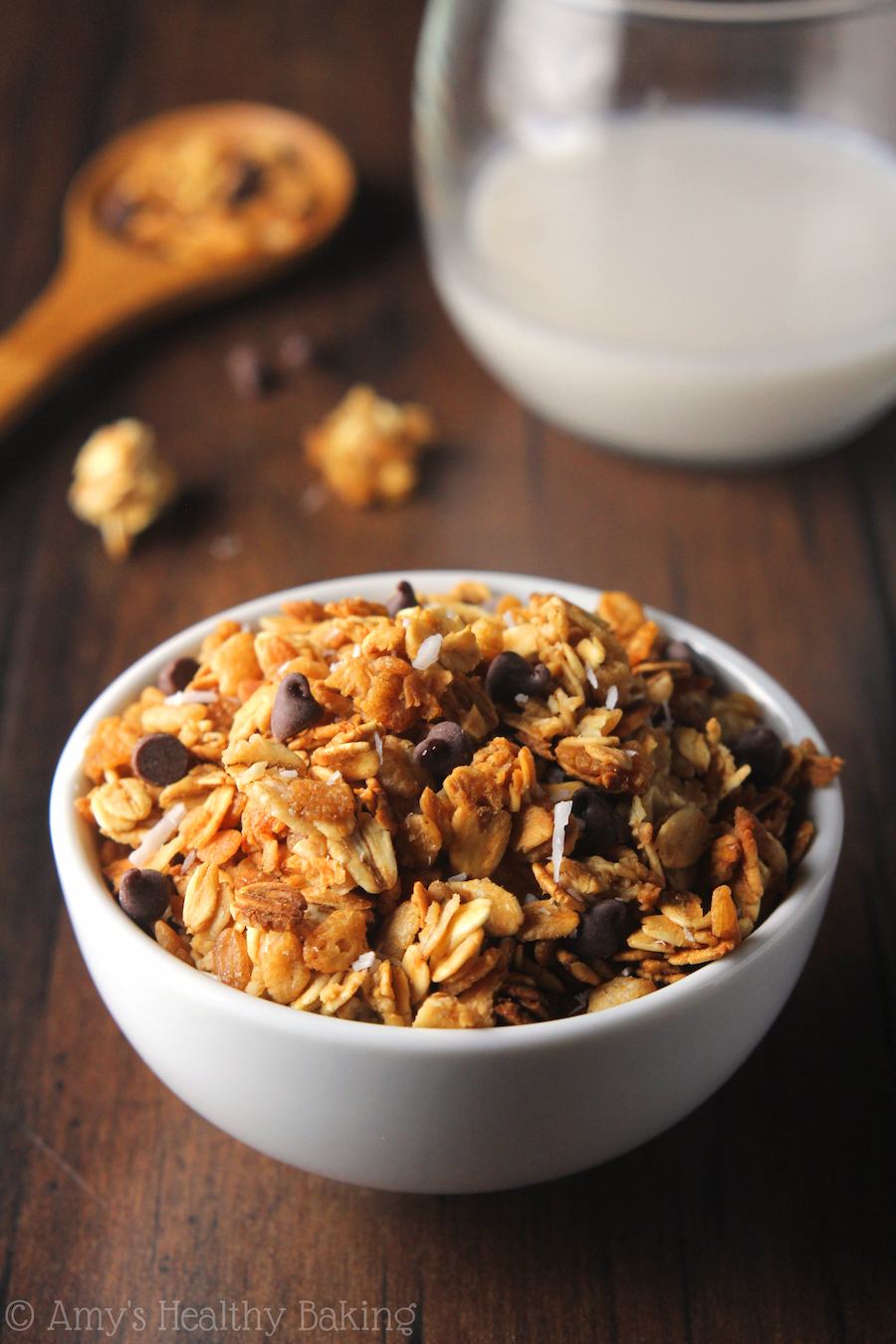 Healthy Almond Joy Granola | Amy's Healthy Baking