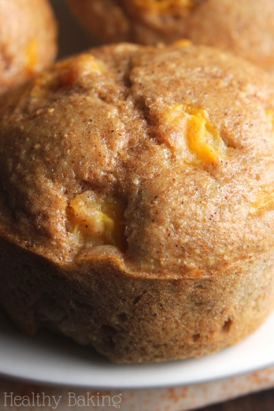 Small Batch Maple Peach Muffins {Recipe Video!}