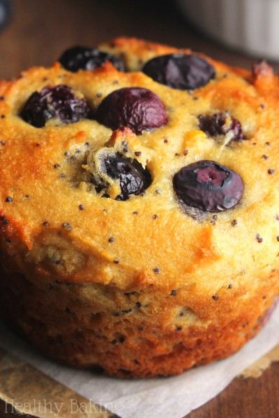 Blueberry Lemon Poppy Seed Protein Muffins