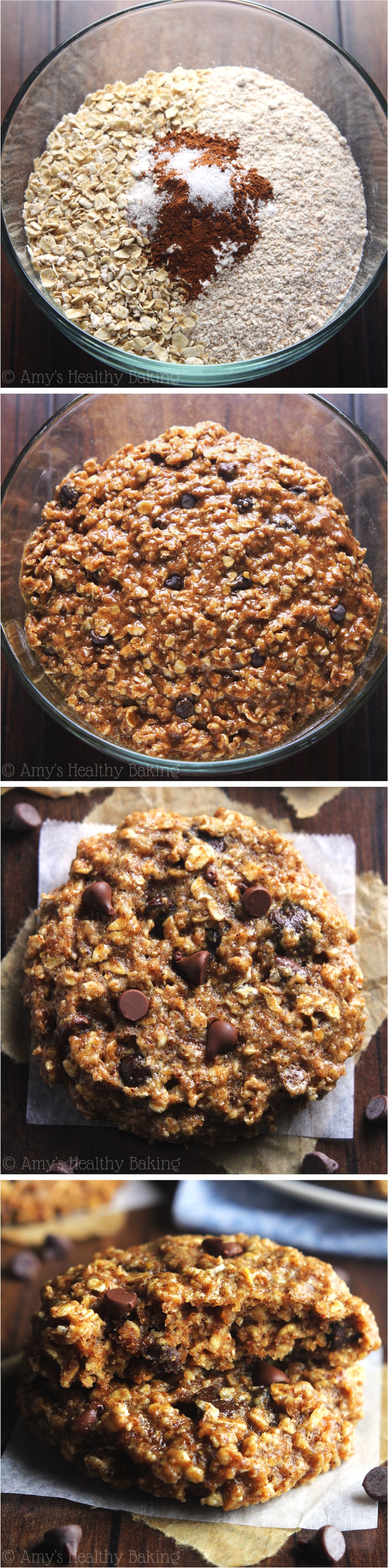 Clean-Eating Chocolate Chip Almond Butter Oatmeal Cookies -- these skinny cookies don't 3634e healthy at all! You'll never need another oatmeal cookie recipe again!